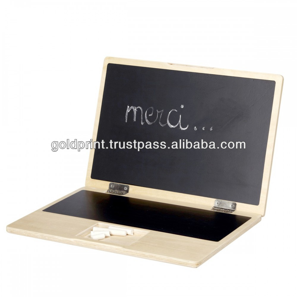 New 2016 Wooden Laptop Chalkboard for Kids - Educational Product