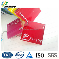 China Supplier Acrylic Clear Color Chain Plastic Sheet Laser Cutting Number 102