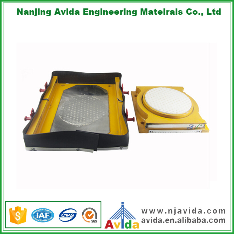 Structural PTFE Free Sliding Pot Bearing Pad in Bridges