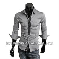 100% cotton slim fit dress shirts