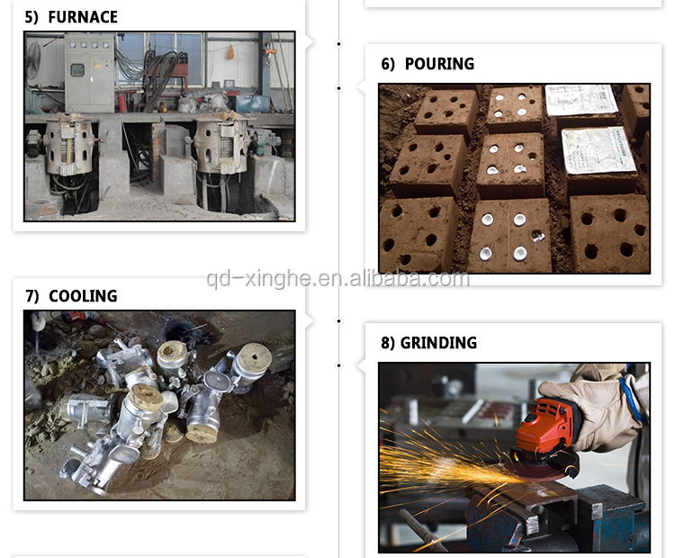 car oem parts metal casting parts ductile iron foundry with blasting