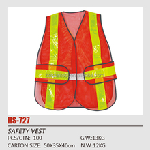 100% polyester high visibility cheap reflective safety vest with 5cm PVC HV Waistcoat safety Waistcoat