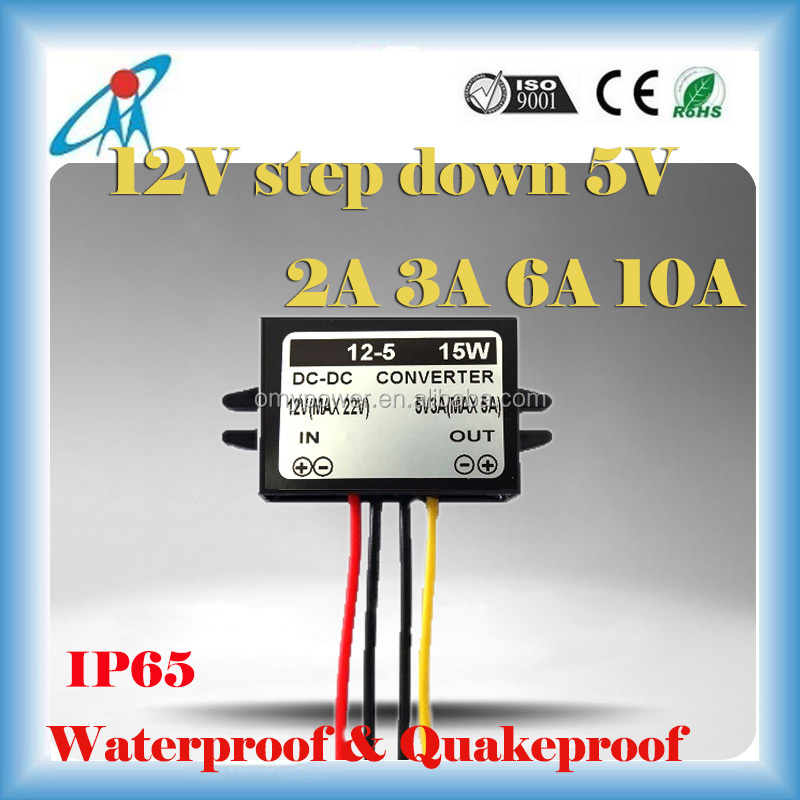 12V to 5V 2A 3A 6A 10A Power Converter for Car LED Display GPS MP3