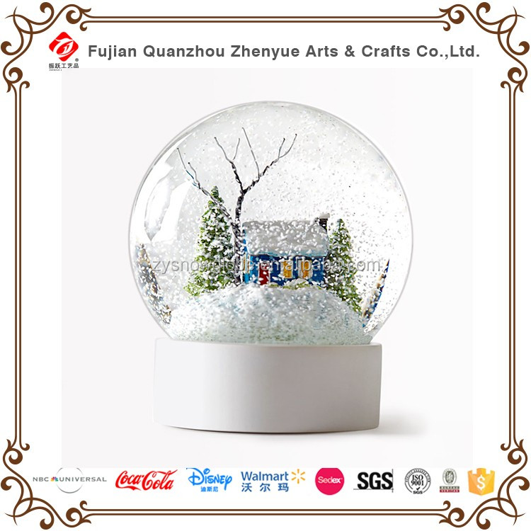 Customized Resin Glass Snow Globe for Decoration,Scenery Souvenir Water ball