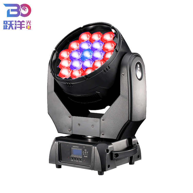 Cheap Price Led Wash Zoom Moving Head 19*15w <strong>Beam</strong> Effect Stage Light With Full Color 4-in-1RGBW For Concert Show