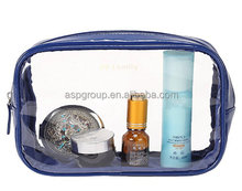 Best price custom printing makeup travel clear PVC cosmetic pouch bag