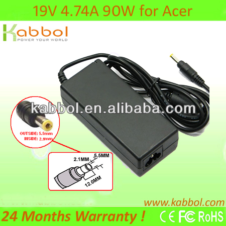 90W 19V 4.74A Laptop Charger for Acer