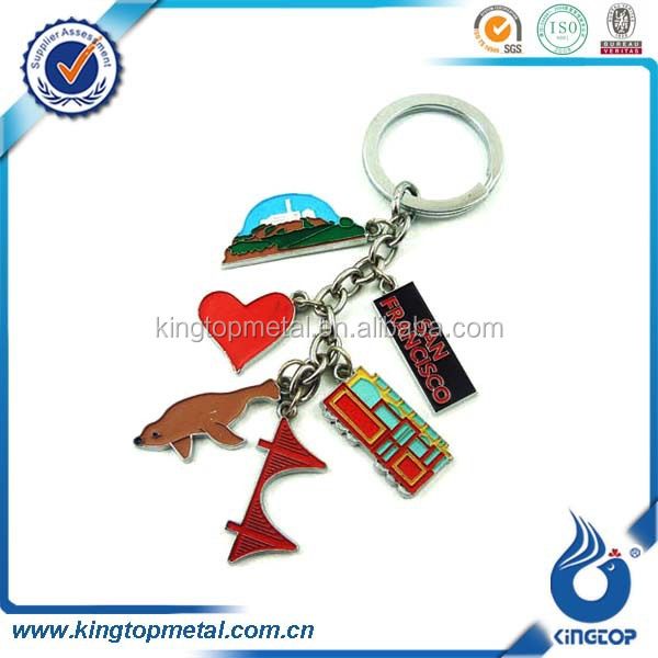custom made san francisco souvenir keychain with 6 characters