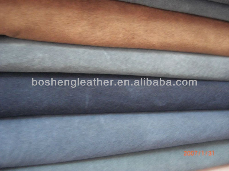 pig full grain suede leather for garment and bags