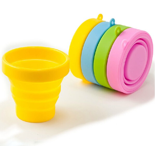200ml Retractable Portable Silicone Mugs Folding Cup Outdoor Travel Telescopic Collapsible Cups Outdoor Sports Gargle Mug