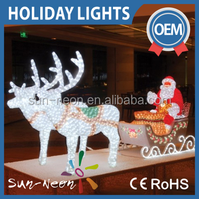 large outdoor christmas reindeer light