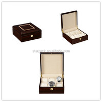 Wholesale Luxury Lacquered Wooden SIX Watches Collection Case