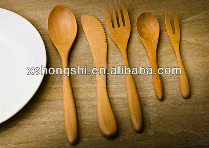 high quality natural bamboo / wooden spoon,fork,knife,shovel,chopsticks,cutlery