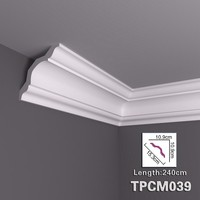 Green Building Material PU decorative ceiling cornice