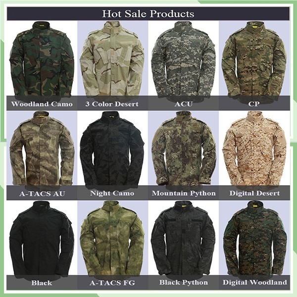 Best Seller American Military/Army BDU Field Combat Multicam Camouflage Security Uniform