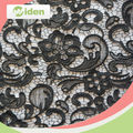 Heavy black cord lace fabric 100%polyester fish net pattern chemical lace fabric