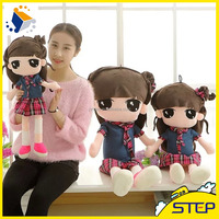 Cute Plush Dolls with Student Uniform OEM Custom Factory Wholesale Multisize Baby Toys ST164153