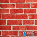 brick style 3d design wallpaper in bar