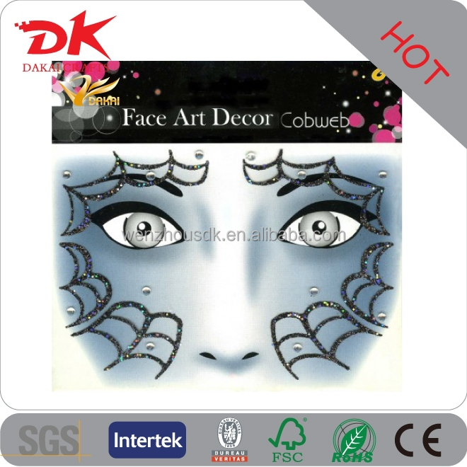 Halloween decor kids temporary tattoo face art stickers