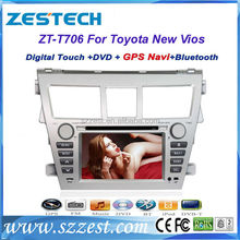ZESTECH 7 inch 2 din car dvd gps for Toyota New Vios with cd player