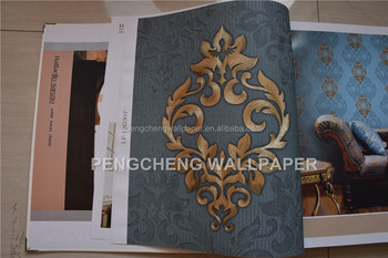 2014 new beautiful wall paper arabic design for home decoration