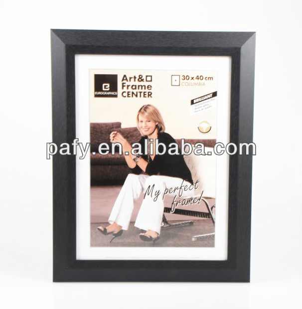 HOT SALING SIMPLE WOODEN PHOTO FRAME BLACK FRAME MAT BOARD PHOTO FRAME