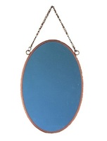 Wall Decorative Mirror Metal Frame Mirror Oval Shaped Wall Hanging Glass Mirror