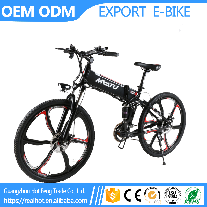 36V 10Ah 350W Green Power High Quality Anti Steal Design Li Battery Cross Country electric bike foldable