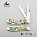 Multi blade colorful shell handle pocket knife