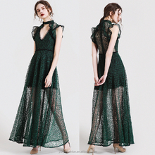 Latest gown designs girls sexy fashion v-neck lace maxi long party prom woman dresses
