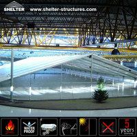 Large removable portable Ice Rink tent cover ice word arena in Winter for skating