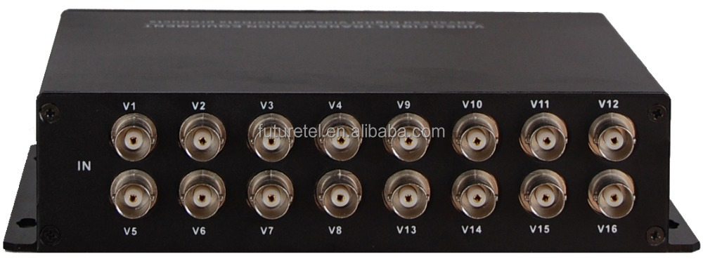 16Channel Video+1Channel Reverse Data SM FC 20km optical hdmi video multiplexer in Aluminum Alloy Case