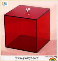China wholesale100% virgin Clear acrylic favor box/acrylic gift box design with low price