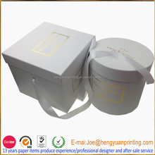 Luxury Square / Round flower box packaging with removable lid CH306