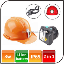 2000mAh rechargeable Li-ion battery safety helmet light cree led mining helmet light for hunting camping fishing