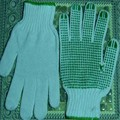 MHR China supplier poly cotton knitted pvc dotted safety gloves