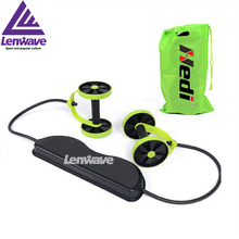 2016 lenwave multi-function abdominal fitness equipment Ab wheel pull rope