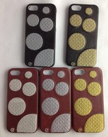 Plastic with Embroider Case For Phone 5 5s