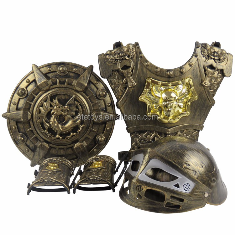 plastic Roman armor for kids roman weapons armor Clothing Props