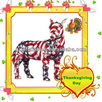 Thanksgiving Day inflatable horse model with American banner