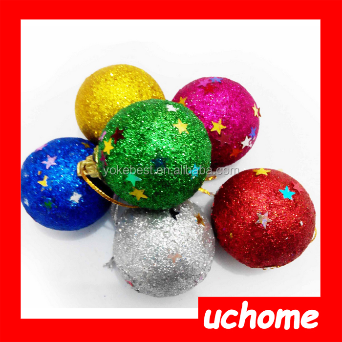 UCHOME 2016 New Design Promotional Trees Gifts Decorative Plastic Christmas Ball
