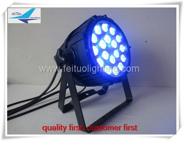 Outdoor stage lighting RGBWA 18x15w led par 64 waterproof