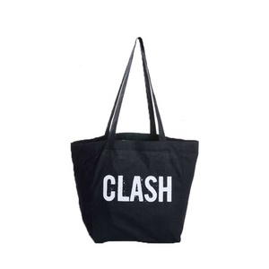 Custom blank black natural recycled tote cotton canvas bags for shopping