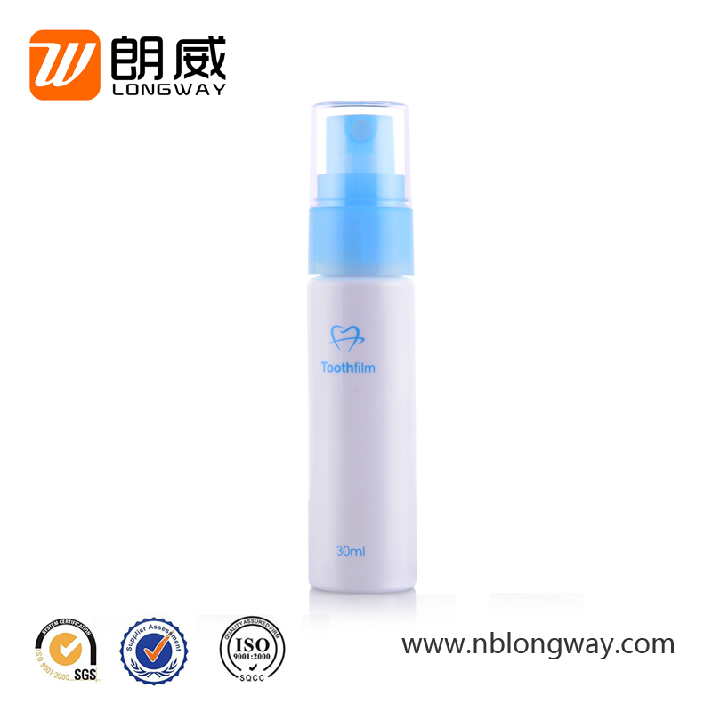 small empty plastic bottles for cosmetic liquid use 30ml pet spray bottle