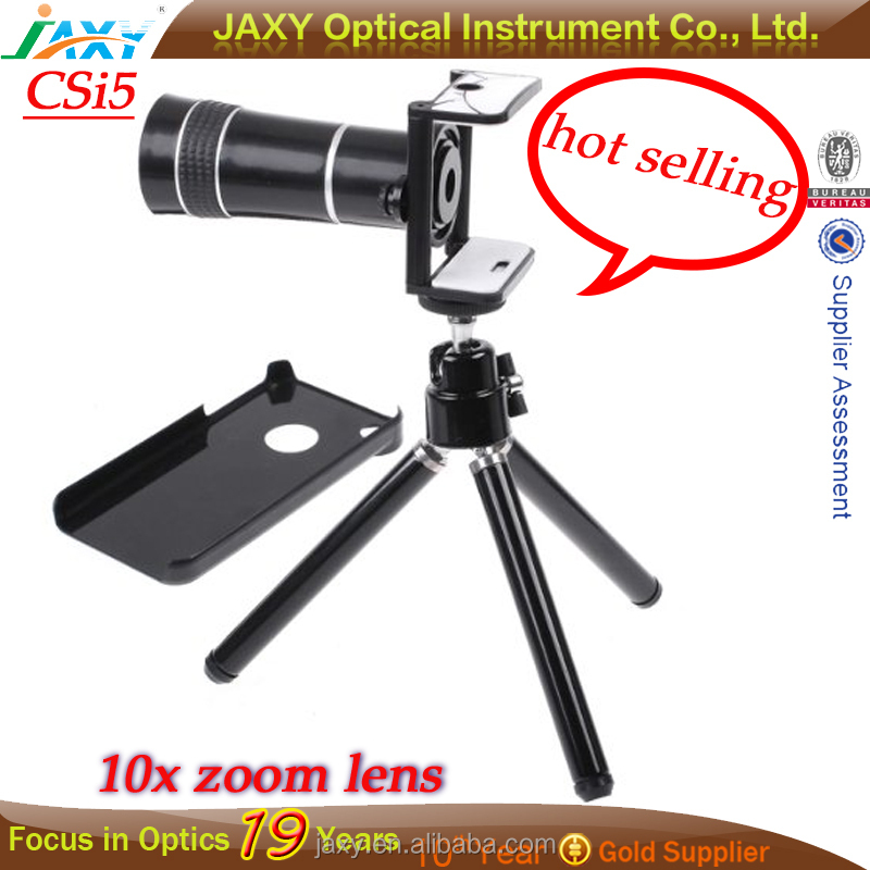 10X Zoom Telescope Camera Lens with Tripod for Mobile Phone