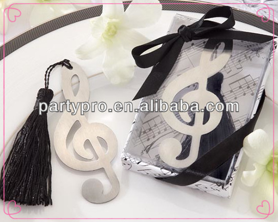 Musical Note Mental Bookmarks For Wedding Gifts