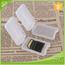 2015 brand new high quility protable and durable 1pcs tf sd memory card cases plastic box transparent color