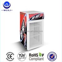 2017 Table top small display refrigerator for rockstar energy drink