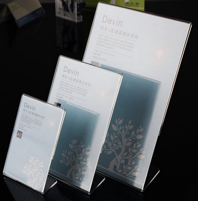 high transparent <strong>acrylic</strong> 2 sides menu card holder model FX-YKLP-1811