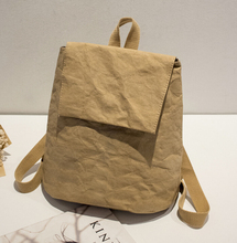 custom light weight durable Washable kraft paper school backpack